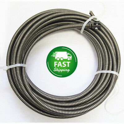 50 Ft Drain Auger Cable Snake Plumbing Sink Clog Shower Pipe Cleaner