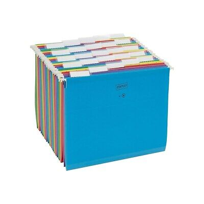 Staples Reinforced Hanging File Folders 5-tab Letter Size Asst. Colors 25bx