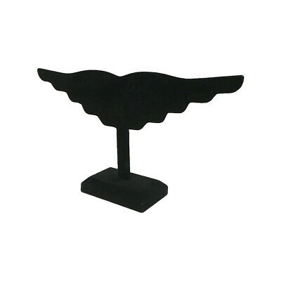 Black Velvet Wing Earring Stand Jewelry Display Holder 10 Pairs Earring 12
