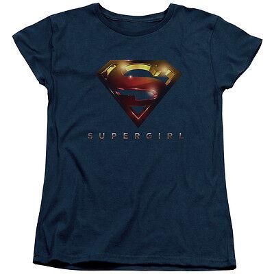 Supergirl TV Show LOGO GLARE Licensed Women's T-Shirt All - Supergirl Shirts