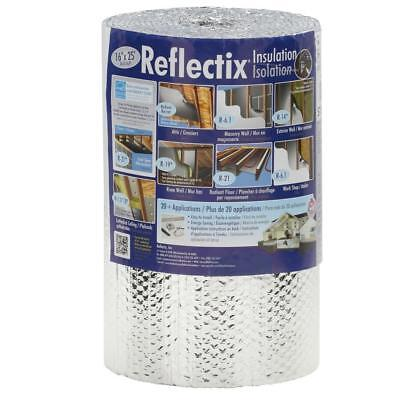 Double Reflective Radiant Heat Barrier Wall Duct Insulation Roll 16 In X 25 Ft