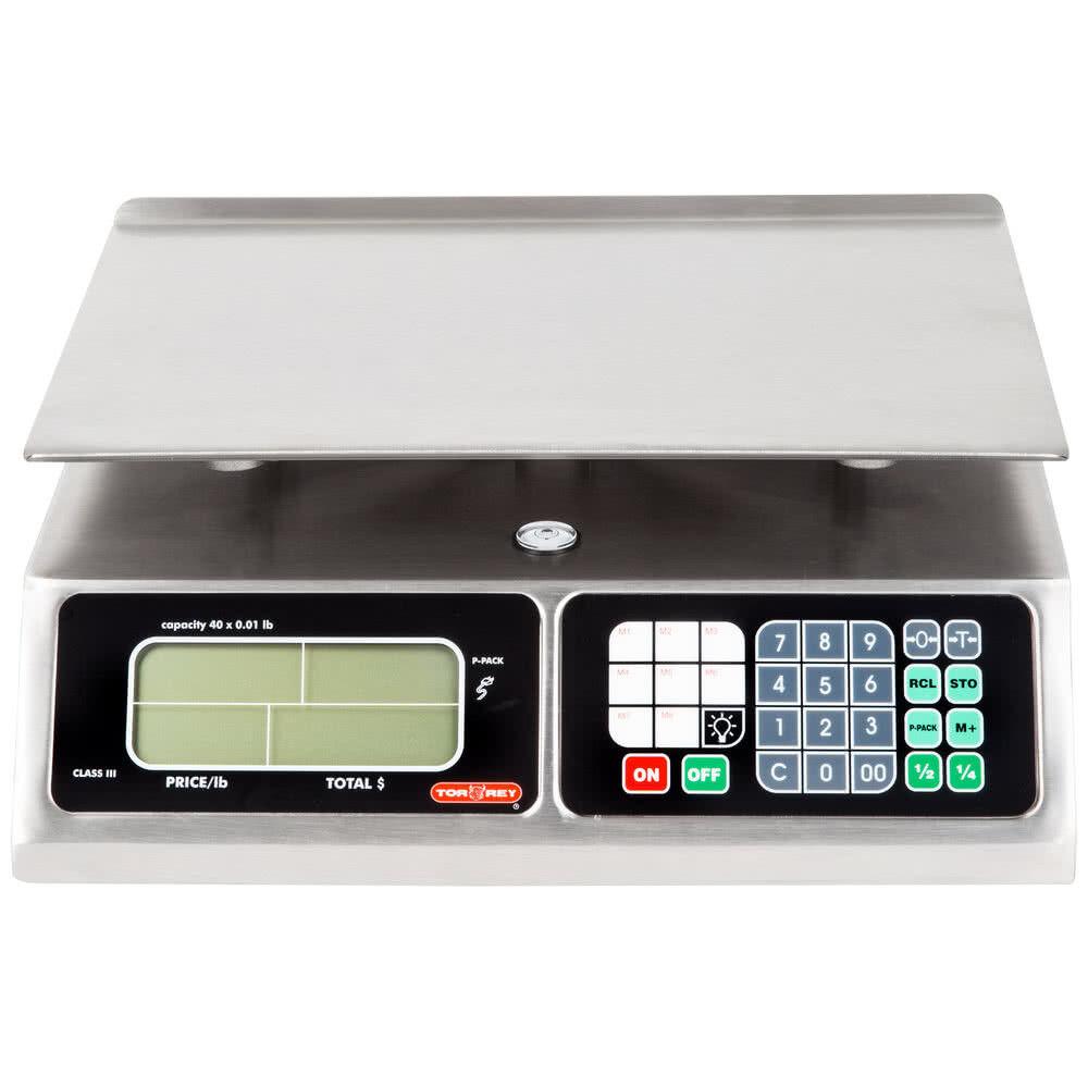 NEW! Tor Rey LPC-40L 40 lb Digital Price Computing Food Scal