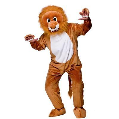 Adult Leo Lion Mascot Costume Unisex Jungle Animal Big Head Fancy Dress - Lion Mascot Head