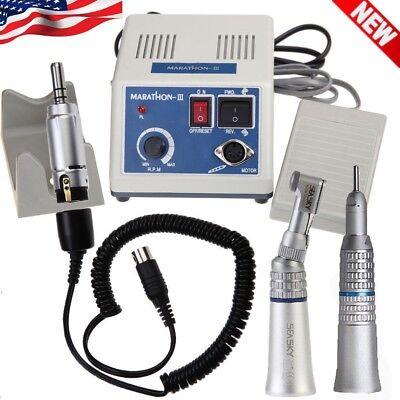 Dental Lab Marathon Electric Micro Motor N3 Unitcontra Angle Straight Handpiece