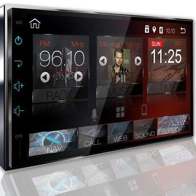 Android 8.0 AUTORADIO Navigation NAVI BLUETOOTH USB GPS 2 DIN WIFI 3G DAB MP3