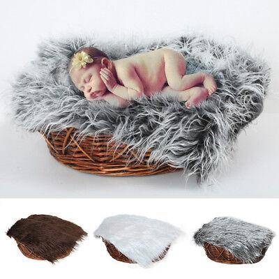 Baby Newborn Photography Blanket Soft Fur Mat Rug DIY Photo Backdrop Props Tool - Diy Photography Props