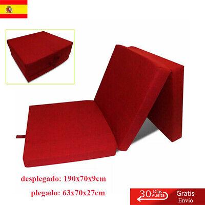 Colchón Plegable de Espuma Rojo Cama de Invitados Colchoneta de Camping Familia