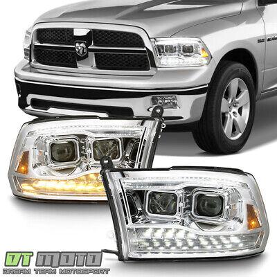 Dual Projector Style 2009-2018 Dodge Ram 1500 LED DRL/Turn Headlights Headlamps