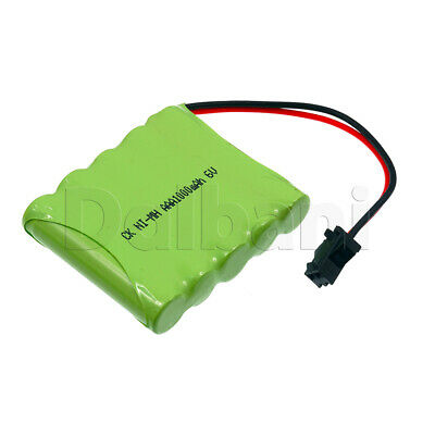 Rechargeable Battery Ni-MH AAA with Cable 2 Pin 6V 1000mAh for sale  Shipping to India