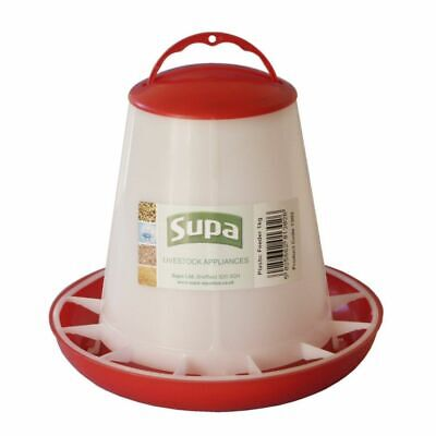 POULTRY FEEDER: SUPA Plastic BIRD Feeder, 1kg, for Chicken / Quail / Aviary etc