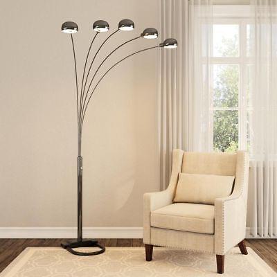 5 Arms Arch Black Floor Lamp Dimmer Switch Sofa Bed TV Bookshelf Light Bedroom