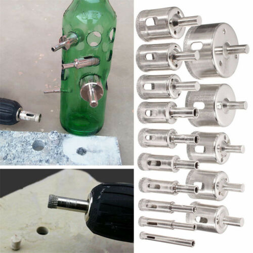 15Pcs Diamond Hole Saw Drill Bit Set Cutting Tool For Tile M