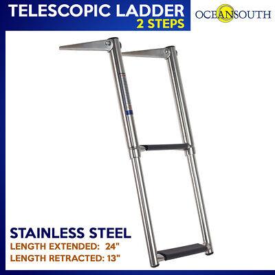 2 Step Boat Ladder Stainless Steel / Telescopic Ladder