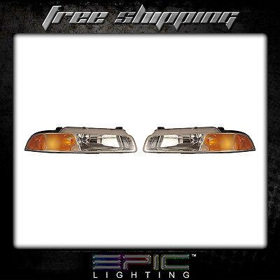 Fits 1995 00 Stratus Breeze Cirrus Headlights Headlamps Pair Left Right Set