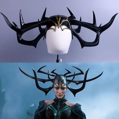 2017 Movie Thor 3 Ragnarok Hela PVC Helmet Halloween Horns Cosplay Mask Props