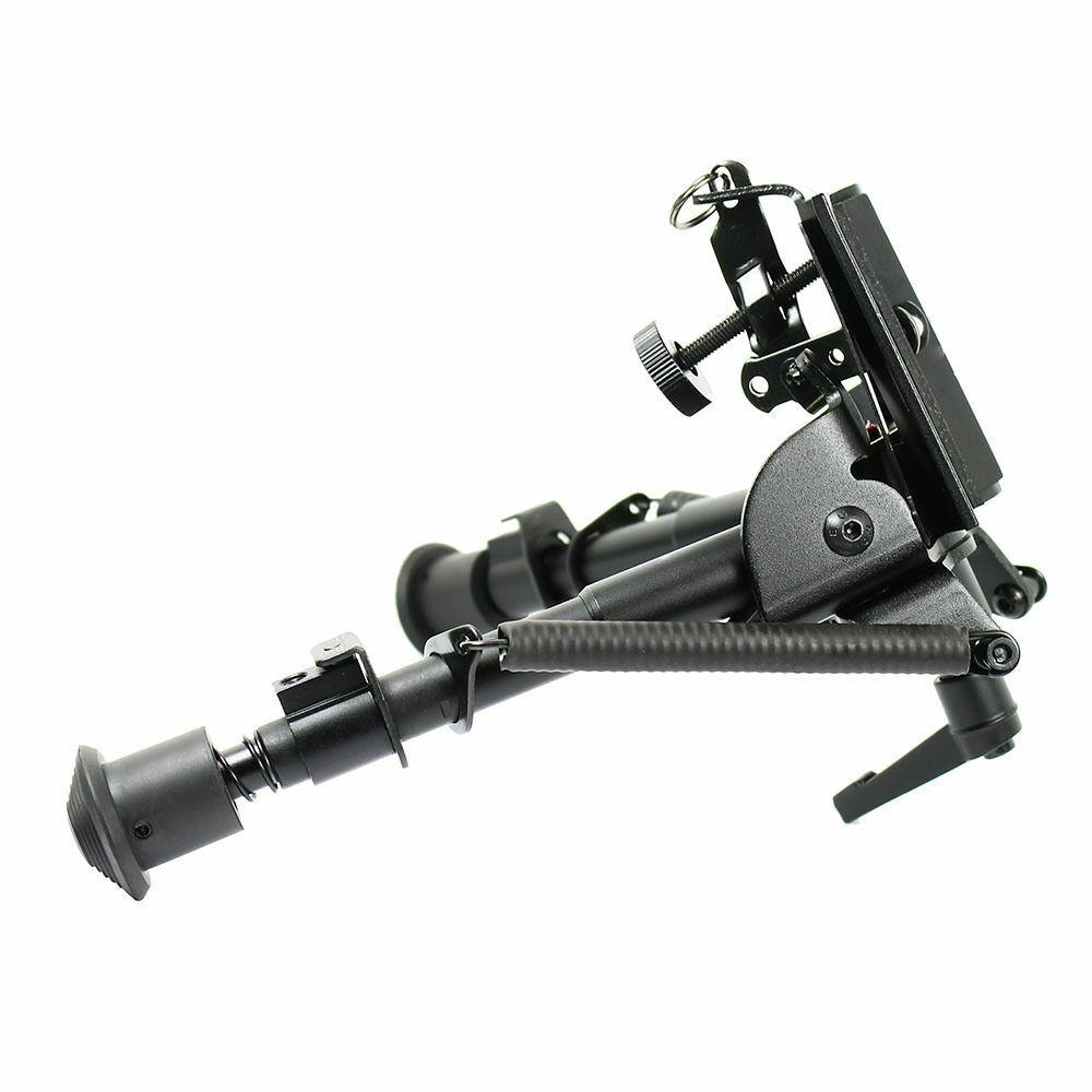 "HOT Adjustable 6/"" to 9/"" Adjustable Pivot Rotating Spring Return Rifle Bipod"