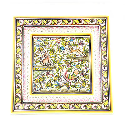 Coimbra Ceramics Hand-painted Hanging Decorative Plate XVII Century Recreation