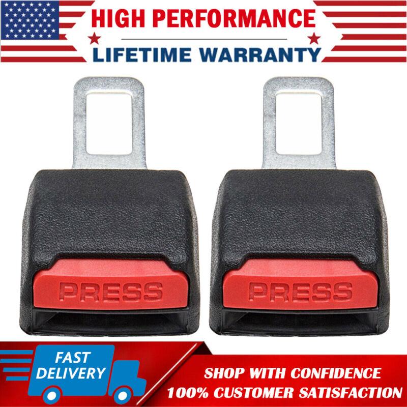 2 Pack Car Safe Seat Belt Buckle Extension Extender Clip Alarm Stopper Universal