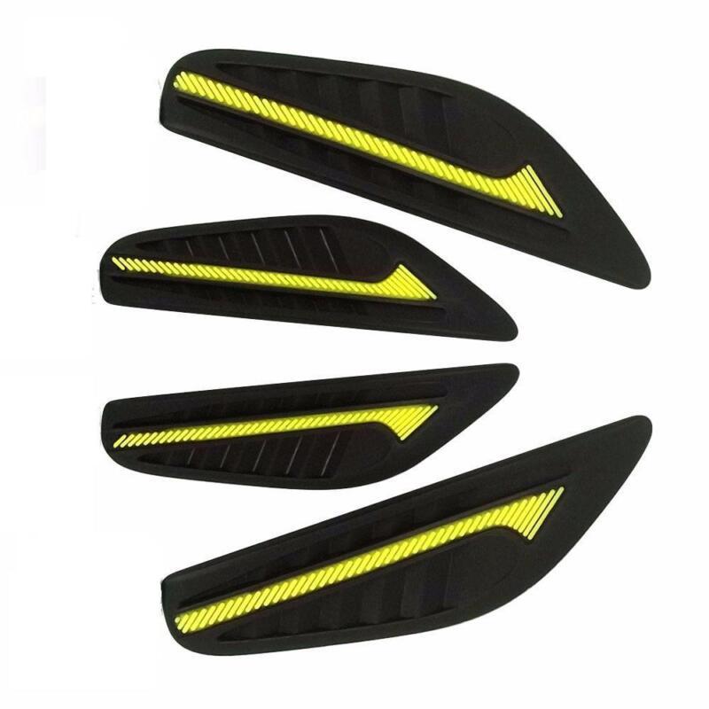 4 x Black Rubber Door Boot Guard Protectors YELLOW Insert (DG2) MC17/10