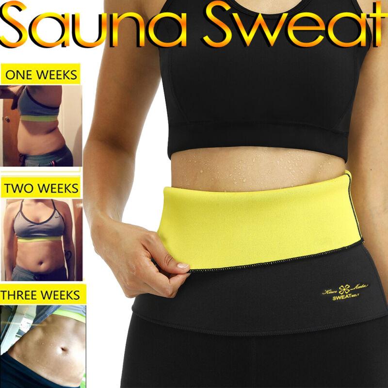 Wasit Trimmer Belt Sweat Band Wrap Tummy Stomach Weight Loss
