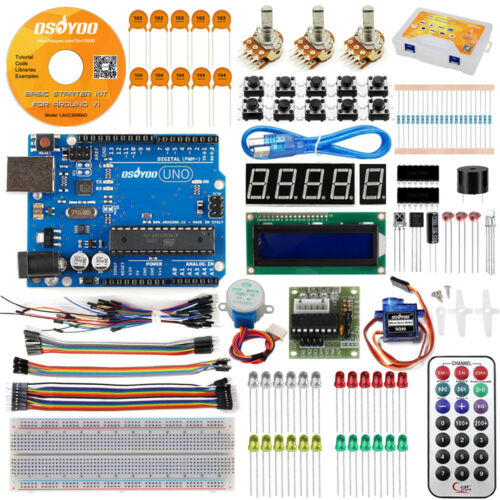 UNO R3 Project Ultimate Starter Kit with 1602 LCD Tutorial for Arduino Learning