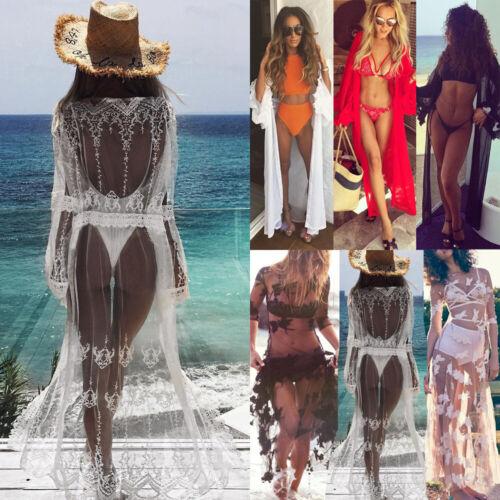 Women's Sheer Bikini Cover Up Swimwear Swimsuit Bathing Suit