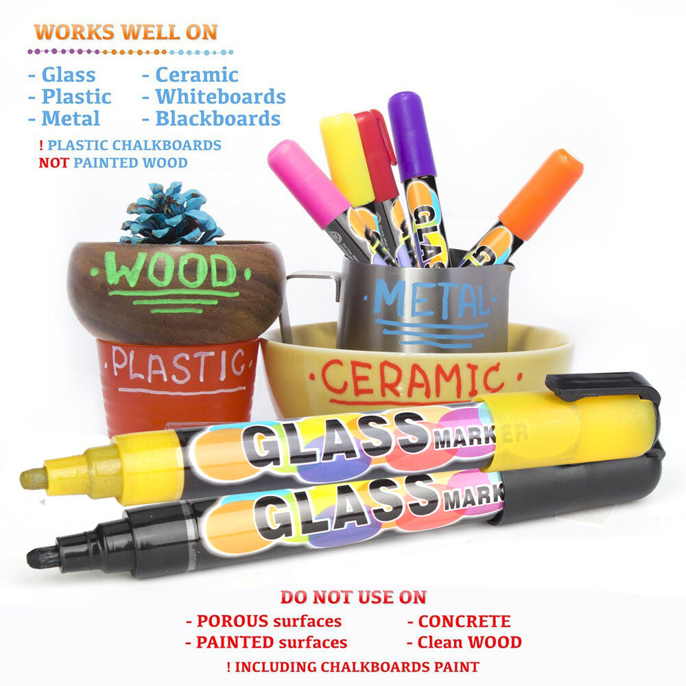 Advanced Pack 12Color Liquid Chalk Markers Erasable Chalkboa