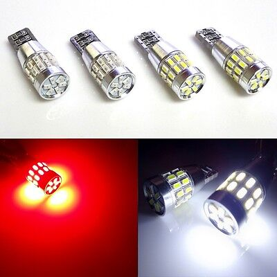 2 white & 2 red 30-LED 3014 truck cargo bed lights 3rd third brake 2xR4+2xR5
