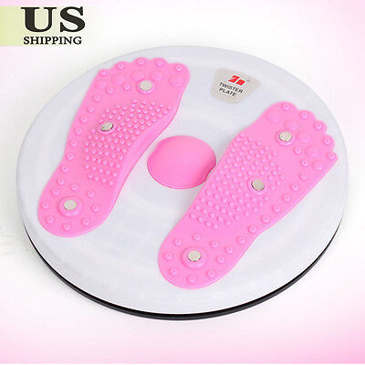 Figure Body Twister Foot Massage Trimmer Waist Abdominal Fitness Exercise Board
