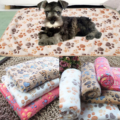 Small Large Puppy Warm Pet Mat Patterned Cat Dog Fleece Blanket Bed Cushion Cozy Cozy Cushion Dog Bed