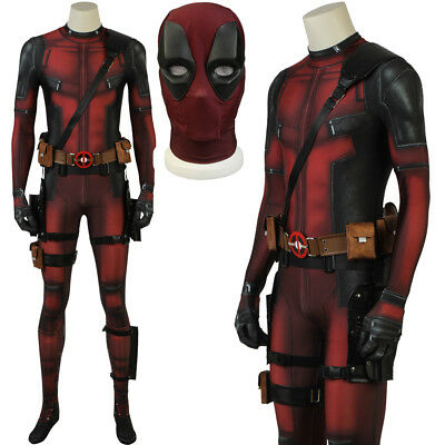 Deadpool Costume Adult Zentai Bodysuit Deadpool Jumpsuit Halloween Cosplay Suit