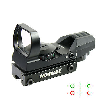 Tactical Holographic Reflex Red Green Dot Sight 4 Reticle W  11Mm Dovetail Mount