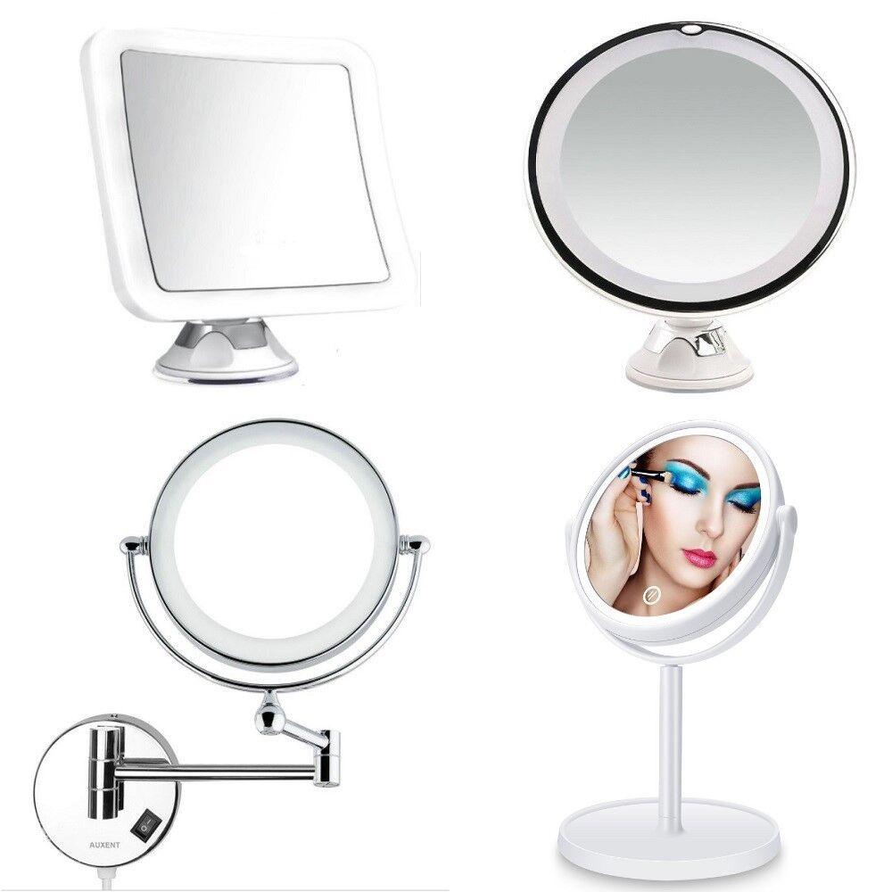 Design Kosmetikspiegel Rasier Schminkspiegel LED 5/7/10 Fache Vergrößerung 360`