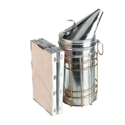 Bee Hive Smoker Stainless Steel Honey Keeper W Heat Shield Beekeeping Equipment