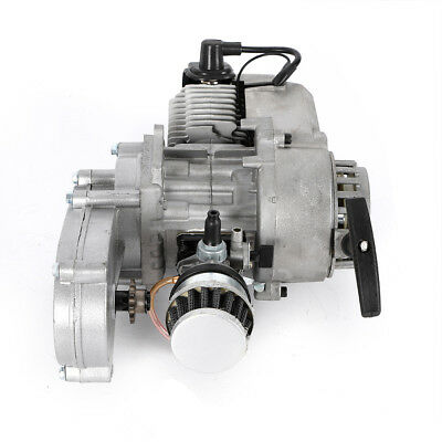 2 Stroke 49CC Engine Motor CARB Air Filter Gear Box Mini Dirt Bike ATV Quad (Best Mini Quad Motors)