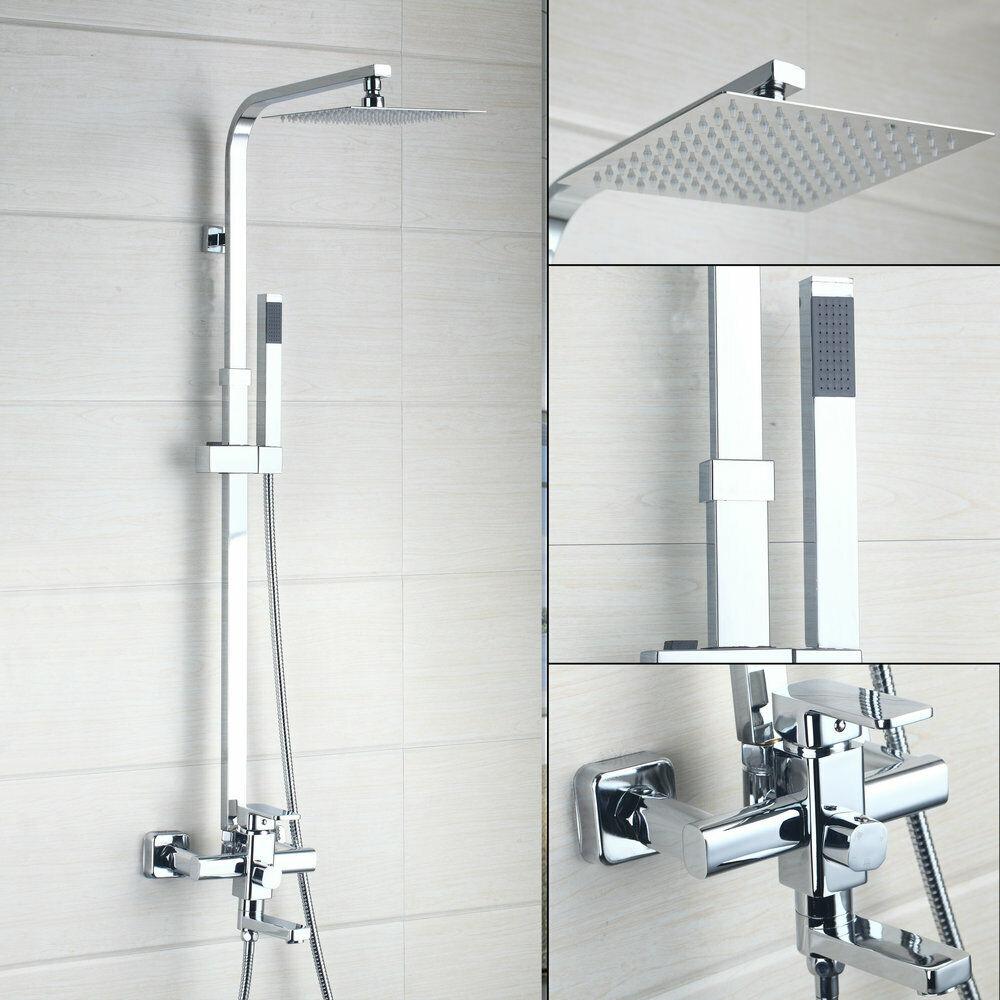 Durable Thin Bathroom Shower Head Tub Sink Mixer Faucet & Hand Held ...