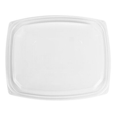 Dart C64DDLR, ClearPac Clear Rectangular Dome Plastic Lid, 252/Cs Dart Clear Dome