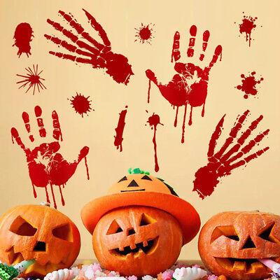Bloody Footprints Floor Clings Halloween Vampire Zombie Decor Wall Stickers