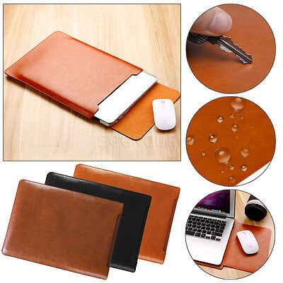 Leather Laptop Sleeve Bag Case For MacBook Air 11 Pro 13 15 Retina iPad Pro 12.9