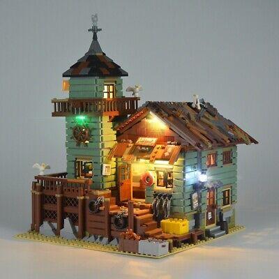 LED light Bricks lighting KIT only for Lego 21310 Fishing Store Building Blocks
