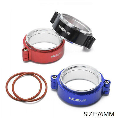 """HD Exhaust V-band Clamp w Flange Assembly Anodized Clamp For 3"""" Turbo Dump Pipe"""