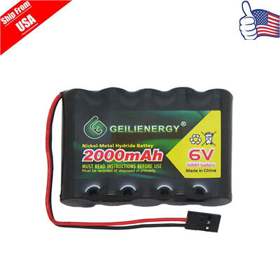 GeiLienergy 1x 6.0V 2000mAh Flat Receiver RX NiMH Battery Pack  For RC Aircraft ()