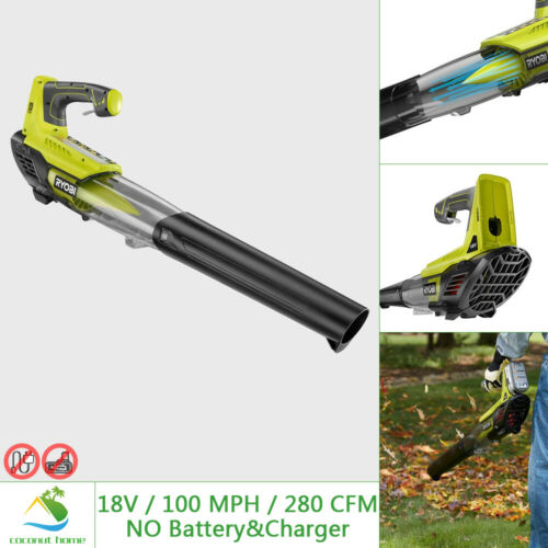 RYOBI 18V Leaf Blower Jet Fan 100MPH 280CFM Handheld Cordless Garden TOOL ONLY