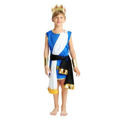 Boy's Ancient Greek Zeus Dress Up Kid Costume Cosplay Halloween Party Outfit](Boys Zeus Costume)