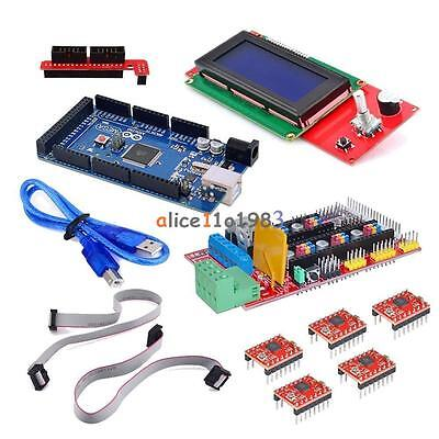 3d Printer Kit Reprap Prusa I3 Hsg Ramps 1.4 Mega 2560 A4988 Lcd 2004 Display
