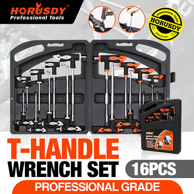 16Pc T Handle Set Torx & Hex key Ball End Allen wrench Trx Star 2 Drive Ends