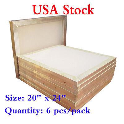 Usa Stock 6pcs 20 X 24 Aluminum Frame Printing Screens With 110 Mesh