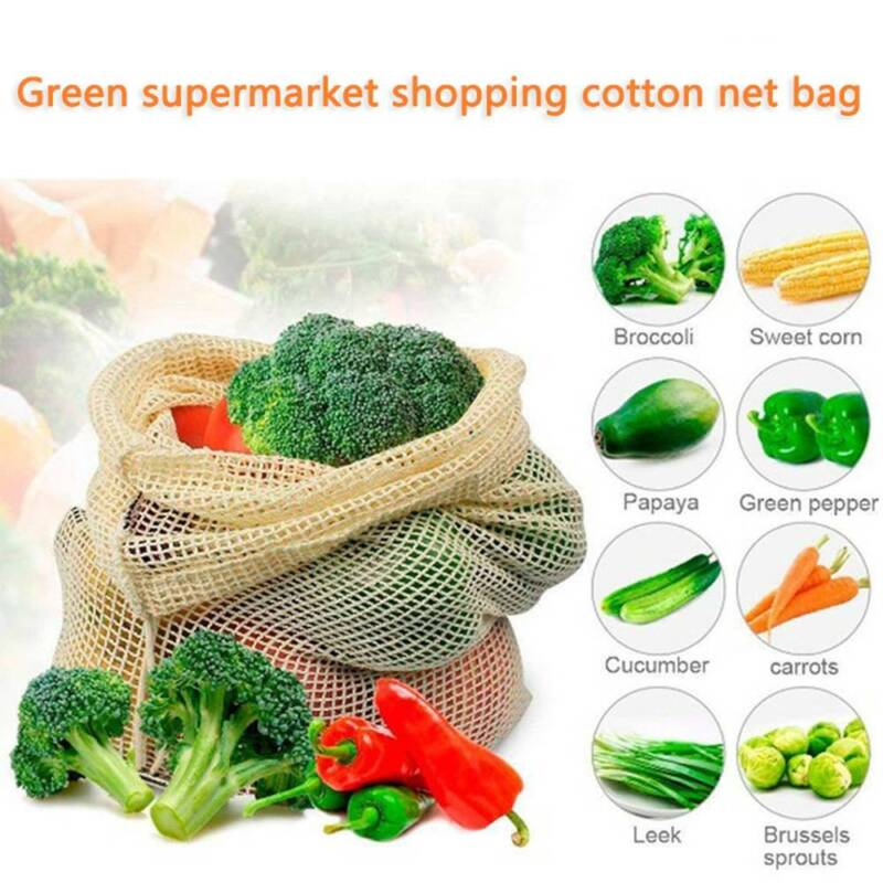 Drawstring Mesh Kitchen Vegetable Fruit Home Organizer Storage Pouch Filter Bag