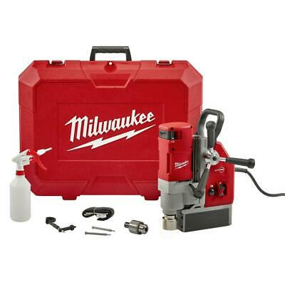Milwaukee Electromagnetic Drill Kit Magnetic Base Tool Free 13 Amp 1-58 Inch