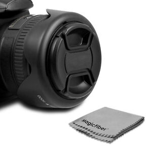 49MM Reversible Lens Hood + Center Pinch Cap for Sony NEX-5N NEX-5R NEX-6 NEX-7